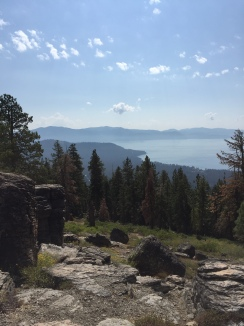 9/9/17 - The beautiful view form the mountain behind the Tahoe rental